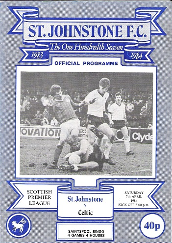 Image for St. Johnstone F.C. Official Programme, The One Hundredth Season St Johnstone v. Celtic.