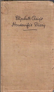 Image for Elizabeth Craig's Housewife Diary 1938