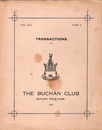 Image for Transactions of The Buchan Field Club Vol. XIV, Part V.