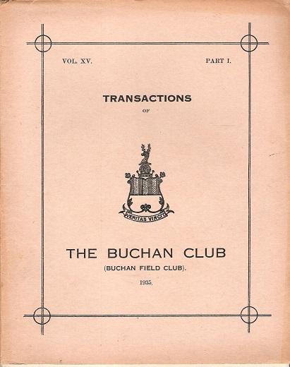 Image for Transactions of the Buchan Field Club Vol. XV Part 1.