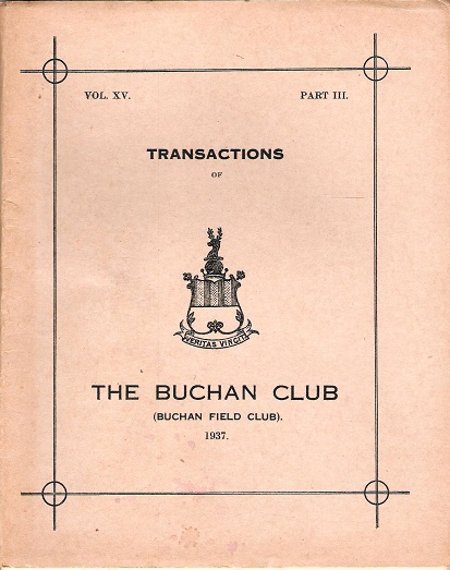 Image for Transactions of the Buchan Field Club Vol. XV Part 3.
