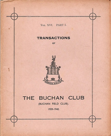 Image for Transactions of The Buchan Club, Vol. XVI, Part 1.