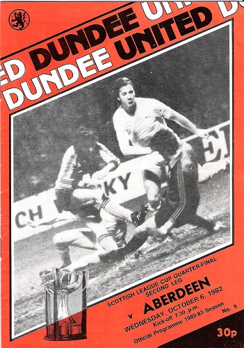 Image for Dundee United: Scotish League Cup Quarter-Final Second Leg v. Aberdeen Wednesday 6 October 1982.