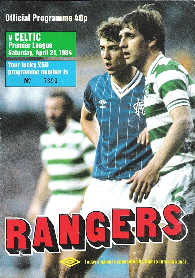 Image for Rangers v Celtic Premier League, Saturday 21 April 1984.