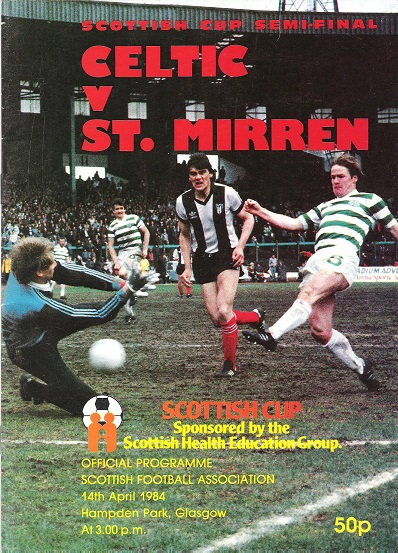 Image for Celtic v. St. Mirren. Scottish Cup Semi-Final 14 April 1984.