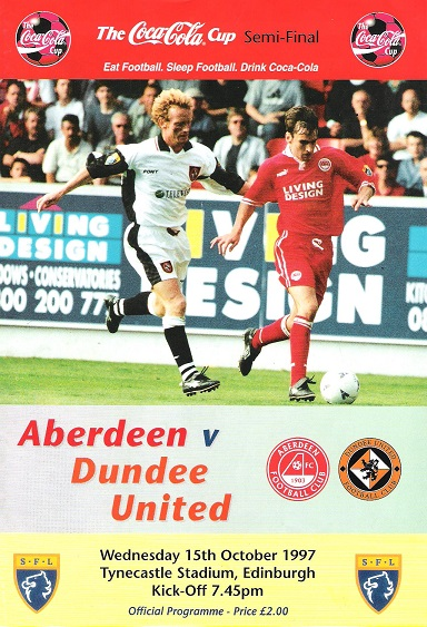 Image for Aberdeen v. Dundee United, Wednesday 15 October 1997.