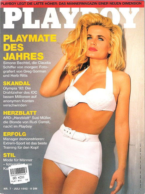 Image for Playboy Germany, July 1992.