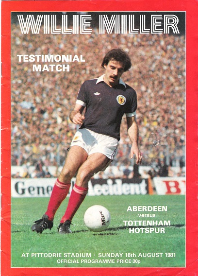 Image for Willie Miller Testimonial Match Aberdeen v. Tottenham Hotspur Sun. 16th August 1981.