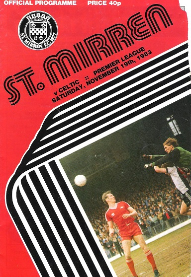Image for St Mirren  v. Celtic, Premier League Saturday 19th November 1983.