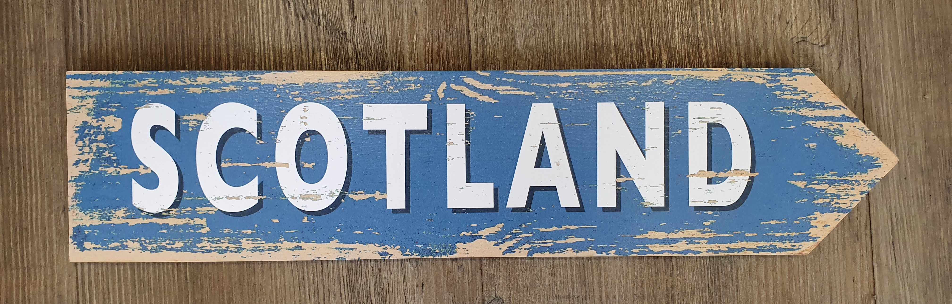 Image for Vintage Style Scotland Road Sign