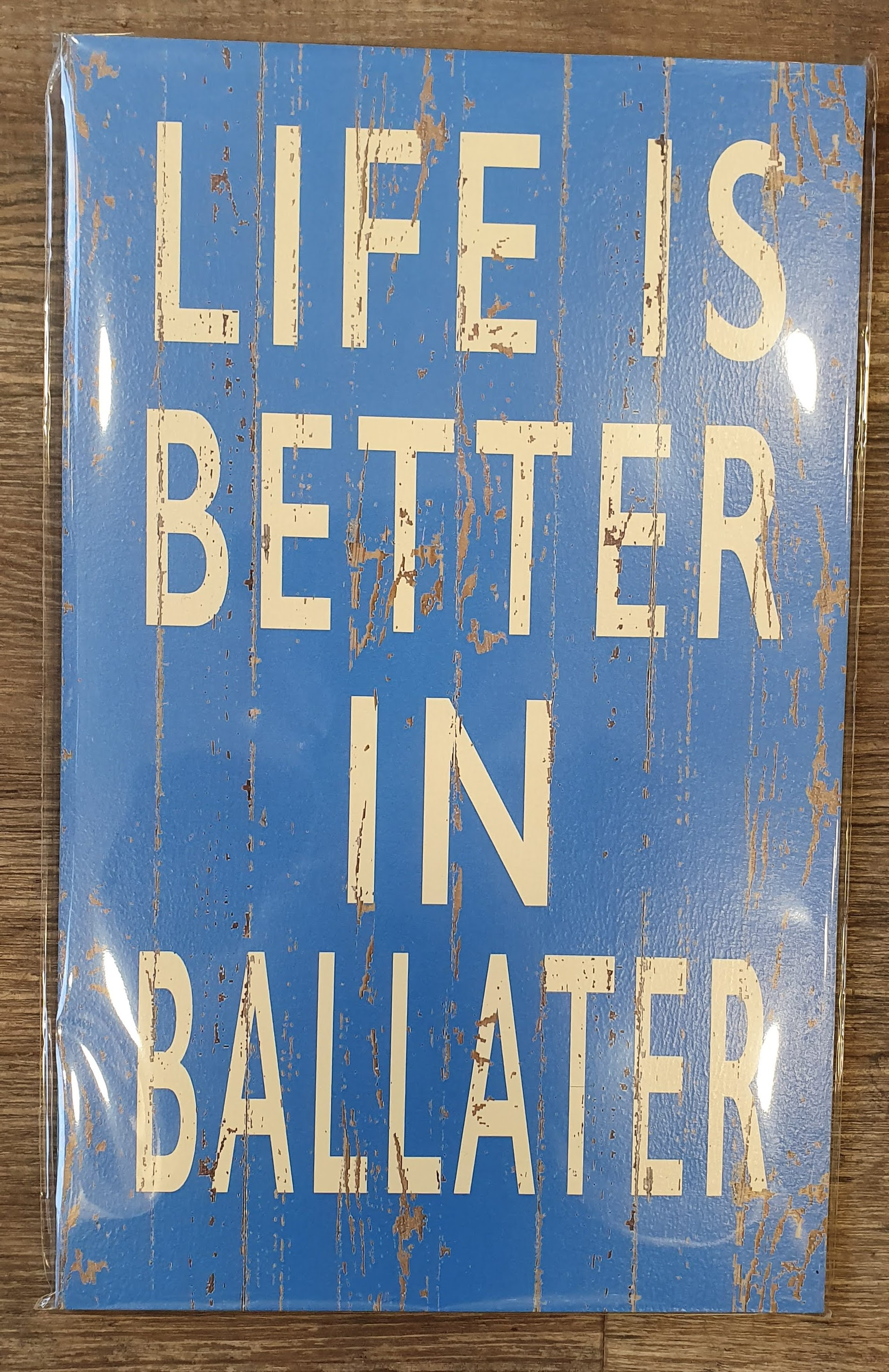 Image for Vintage 'Life is Better in Ballater' Sign