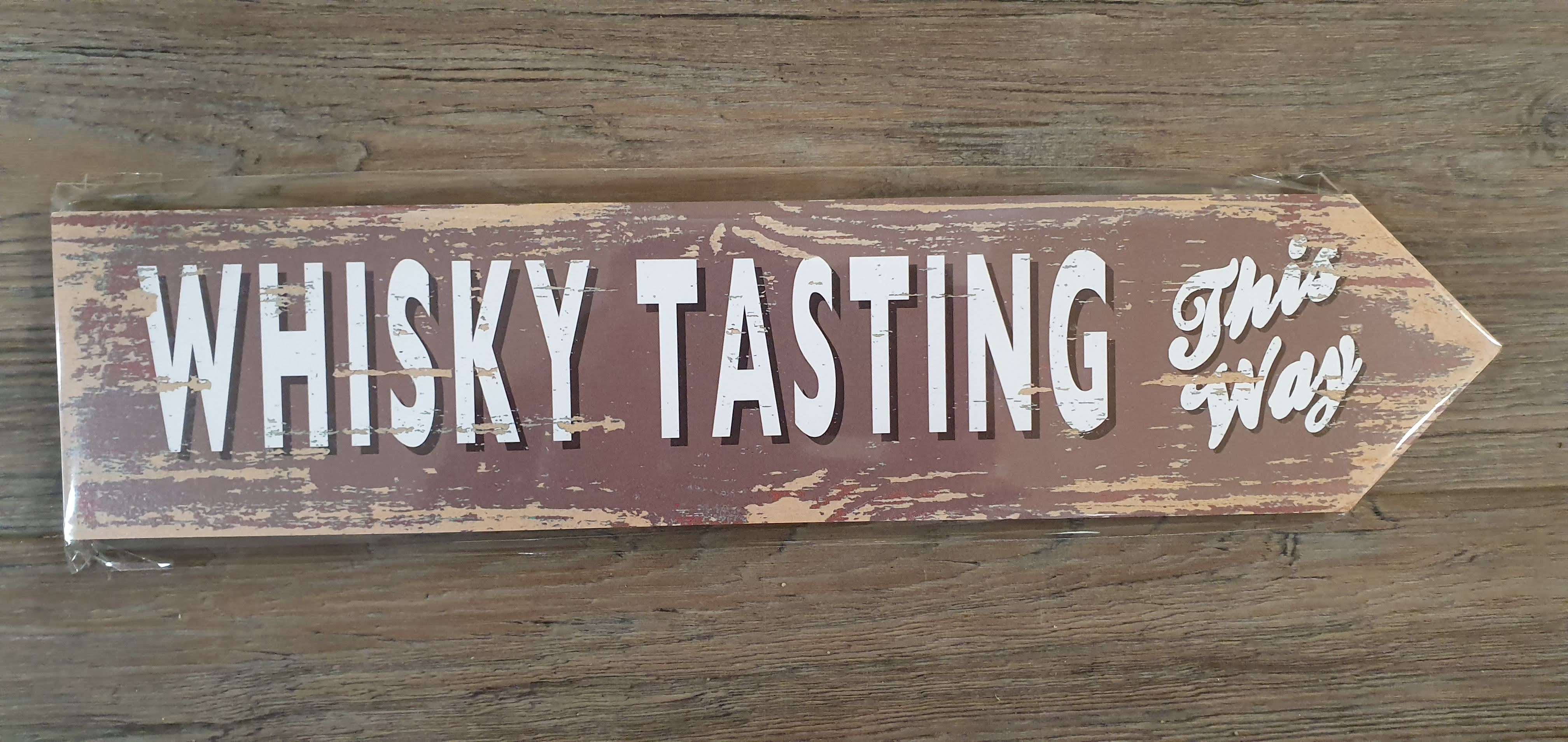 "Image for Vintage Style ""Whisky Tasting This Way"" Sign"