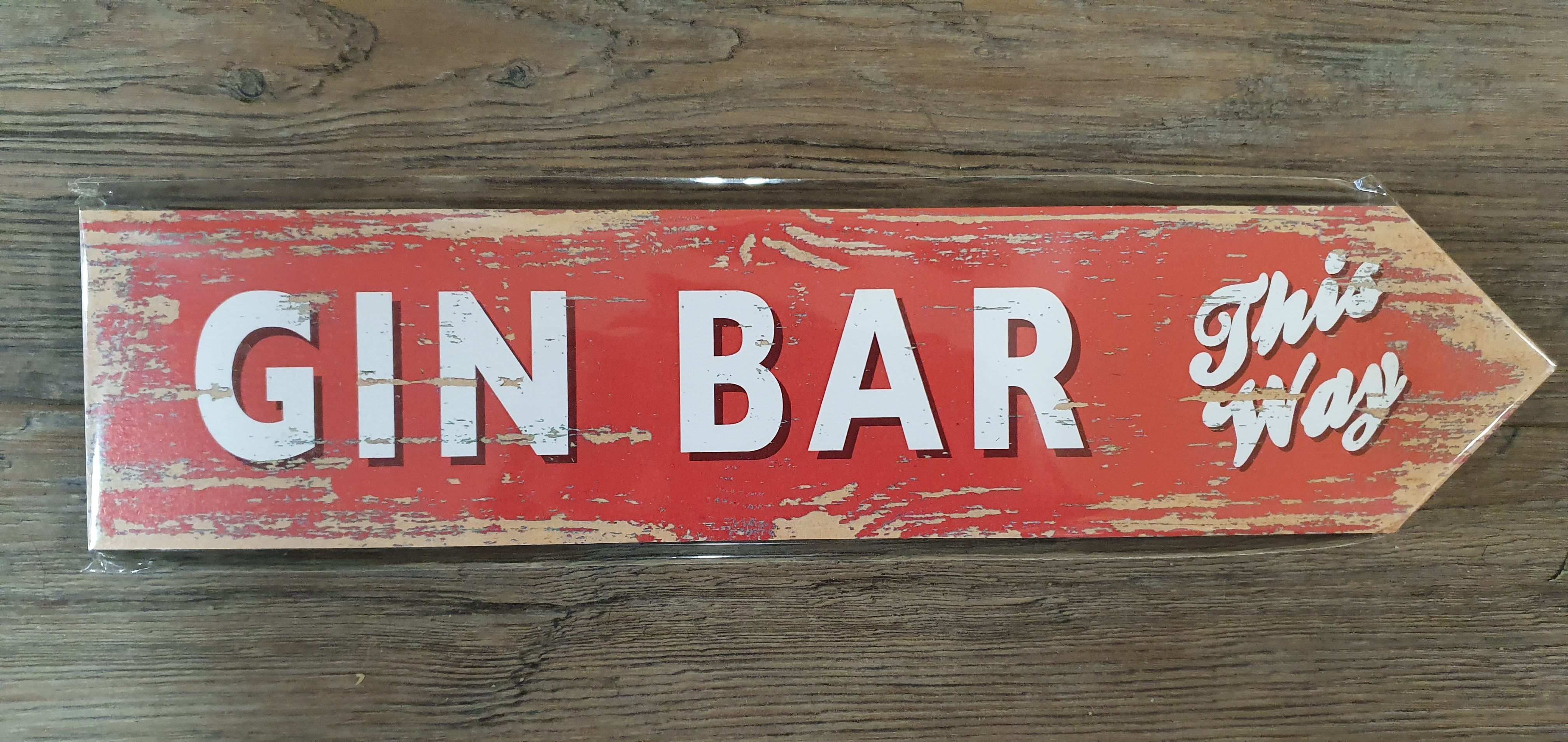 "Image for Vintage Style ""Gin Bar This Way"" Sign"