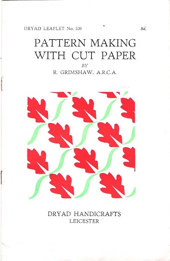 Image for Dryad Leaflet No.108: Pattern Making with Cut Paper.