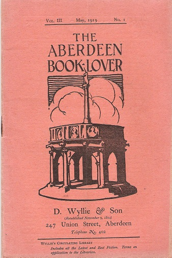 Image for The Aberdeen Book Lover: Volume III May 1919 No. 1.