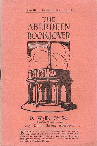 Image for The Aberdeen Book Lover: Volume III November 1919 No.2.