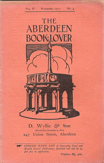 Image for The Aberdeen Book Lover: Volume II November 1917 No. 4.