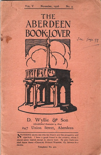 Image for The Aberdeen Book Lover: Volume V November 1926 No. 4.