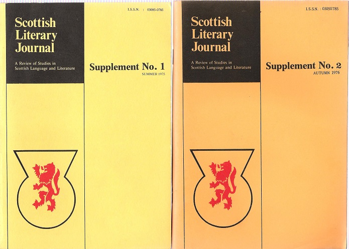 Image for Scottish Literary Journal Supplements 1&2.