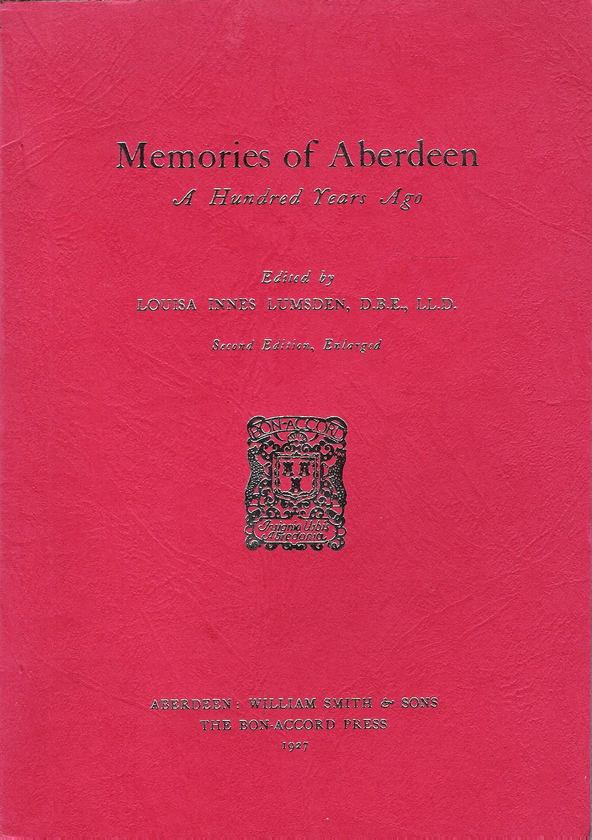 Image for Memories of Aberdeen: A Hundred Years Ago.