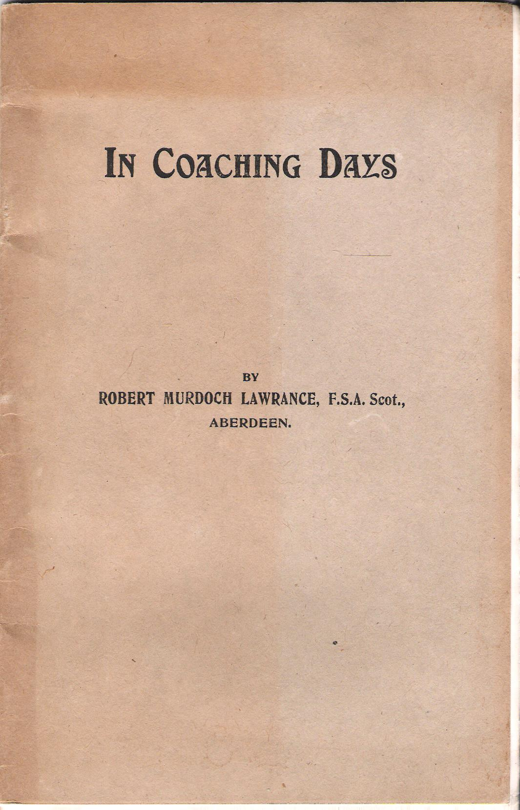 Image for In Coaching Days.