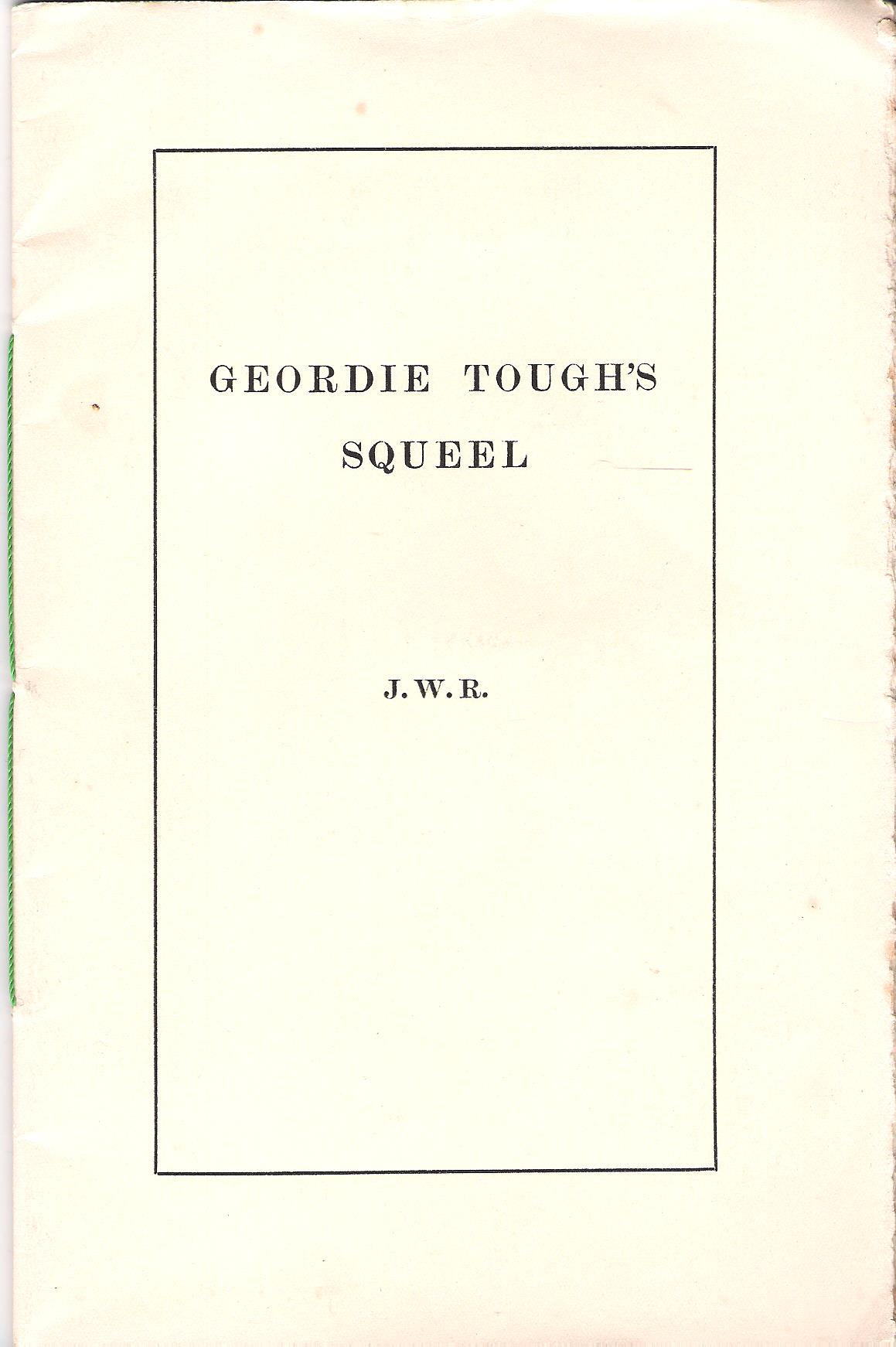 Image for Geordie Tough's Squeel.