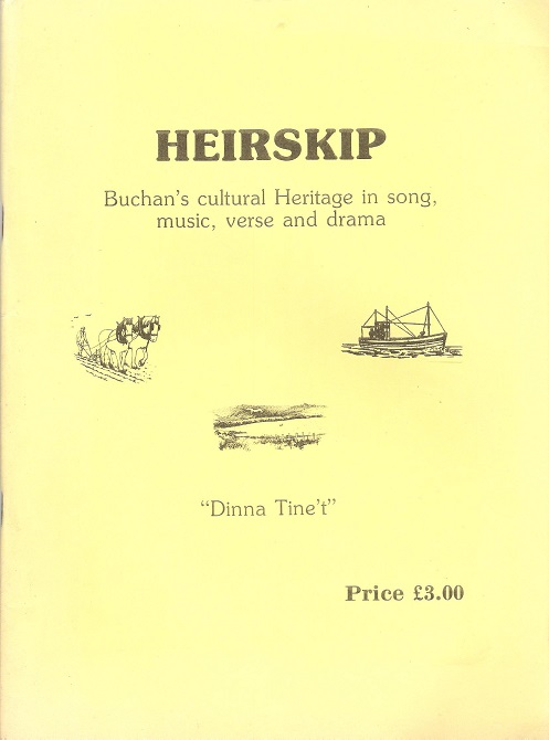 Image for Heirskip: Buchan's Cultural Heritage in Song, Music, Verse and Drama.