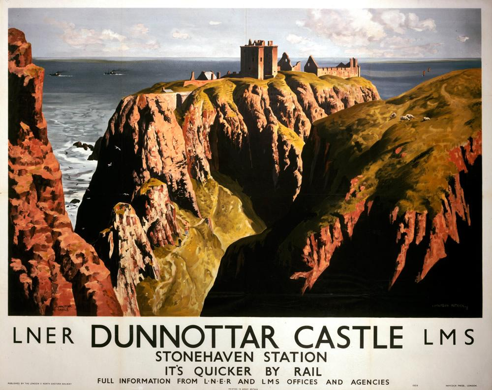 Image for Dunnottar Castle Railway Print