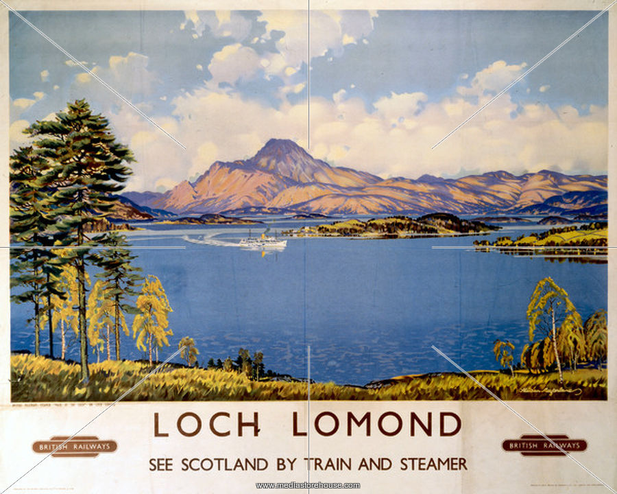 Image for Loch Lomond Railway Print